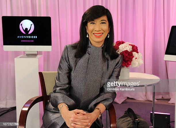 Chairman and Chief Executive Officer of Avon Products Andrea Jung launches Avon Voices the company's first ever global online singing talent search...