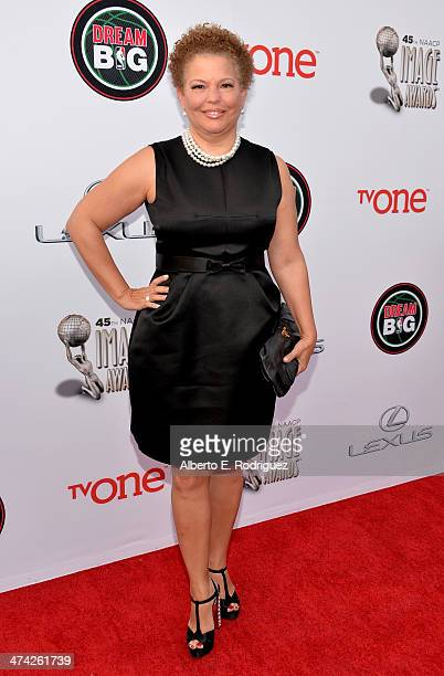 Chairman and Chief Executive Officer of BET Debra L Lee attends the 45th NAACP Image Awards presented by TV One at Pasadena Civic Auditorium on...