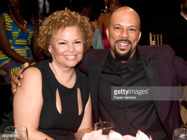 Chairman and Chief Executive Officer of BET Debra Lee and actor Common attend BET Presents the American Black Film Festival Honors on February 17...