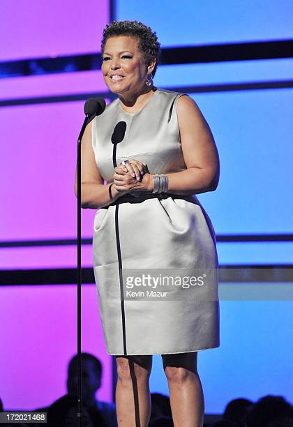 Chairman and Chief Executive Officer of BET Debra Lee onstage during the 2013 BET Awards at Nokia Theatre LA Live on June 30 2013 in Los Angeles...