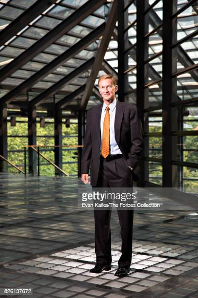 Chairman and Chief Executive Officer of Corning Wendell Weeks is photographed for Forbes Magazine on August 20 2013 in Painted Post New York...