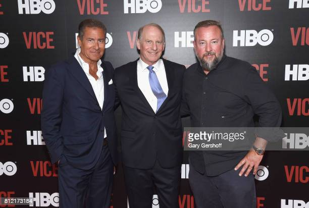 Chairman and Chief Executive Officer of HBO Richard Plepler consulting producer Richard N Haass and executive producer Shane Smith attend the 'Vice...