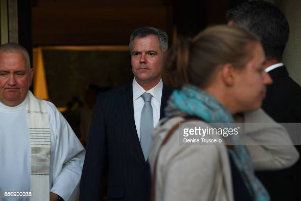 Chairman and chief executive officer of MGM Resorts International James Murren attends a vigil at Guardian Angel Cathedral, for the victims of the...
