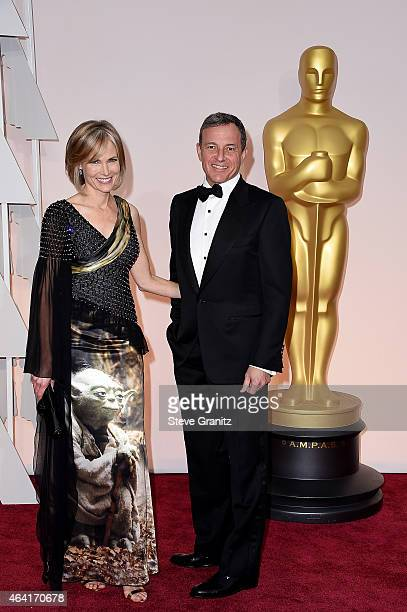 Chairman and Chief Executive Officer of The Walt Disney Company Bob Iger and TV personality Willow Bay attends the 87th Annual Academy Awards at...
