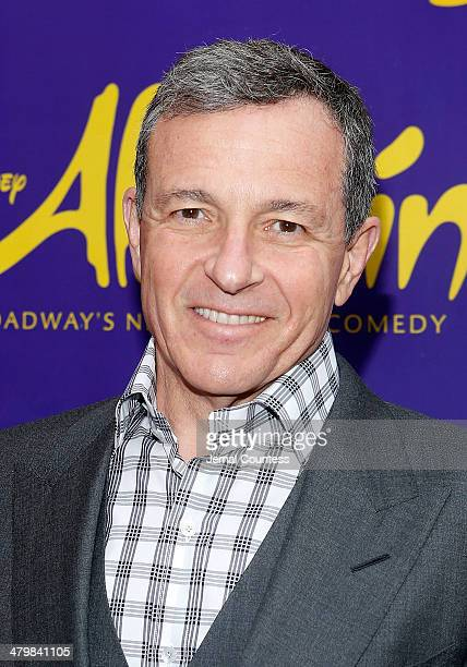 Chairman and Chief Executive Officer of The Walt Disney Company Bob Iger attends the Aladdin On Broadway Opening Night at New Amsterdam Theatre on...