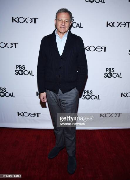 Chairman and Chief Executive Officer of The Walt Disney Company Robert Iger arrives at the premiere of the PBS SoCal Documentary Hollywood's...