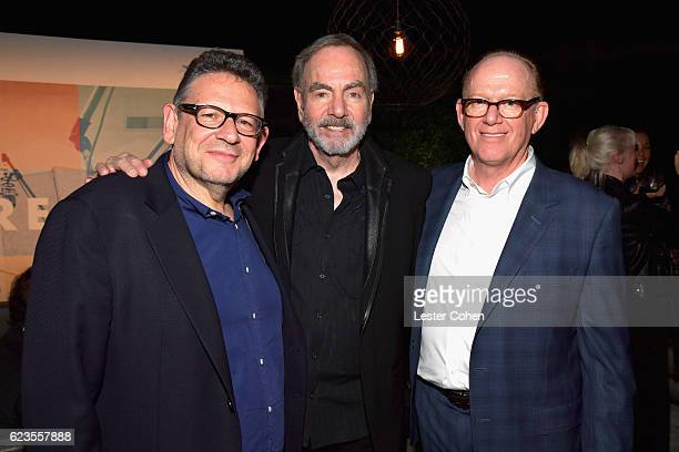 Chairman and Chief Executive Officer of Universal Music Group Sir Lucian Grainge recording artist Neil Diamond and Capitol Music Group Chairman and...