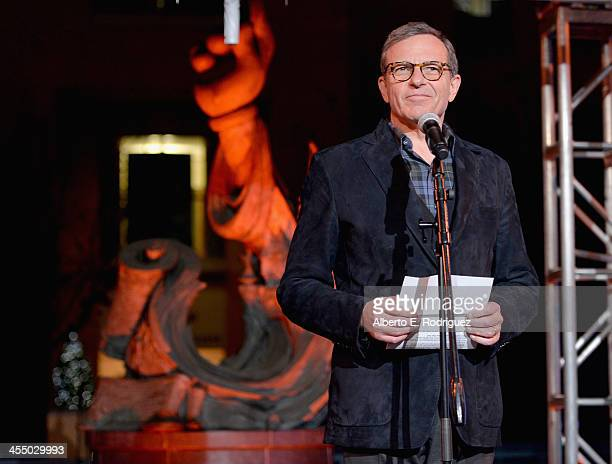Chairman and Chief Executive Officer The Walt Disney Company Bob Iger speaks onstage during the 90 Years of Disney Animation celebration at Walt...