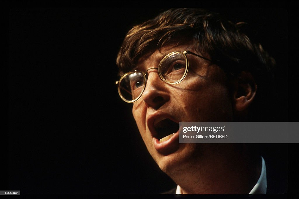 Bill Gates Introduces Microsoft Office : News Photo