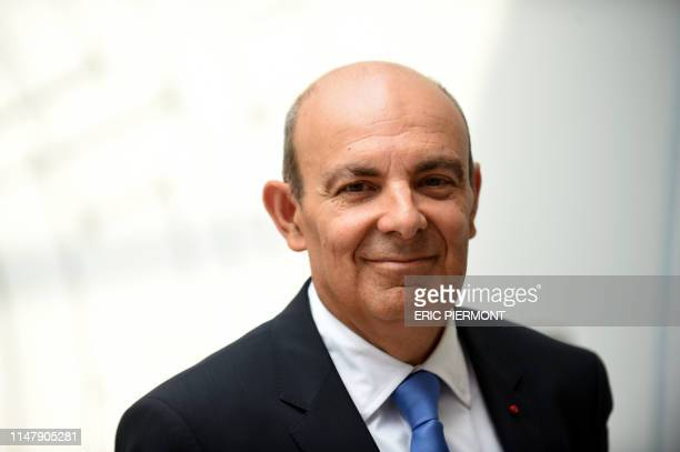 Chairman and Dassault Aviation Chief Executive Eric Trappier poses prior to attend a press conference to present the 53th International Paris Air...