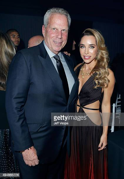Chairman and Executive Vice President of the New York Giants Steve Tisch and Katia Francesconi attend amfAR's Inspiration Gala Los Angeles at Milk...