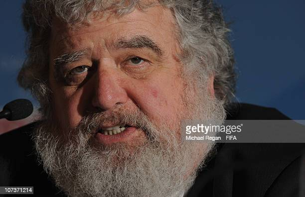 Chairman and FIFA Executive Committee member Chuck Blazer speaks to the media during the Post Organising Committee meeting Press Conference at the...