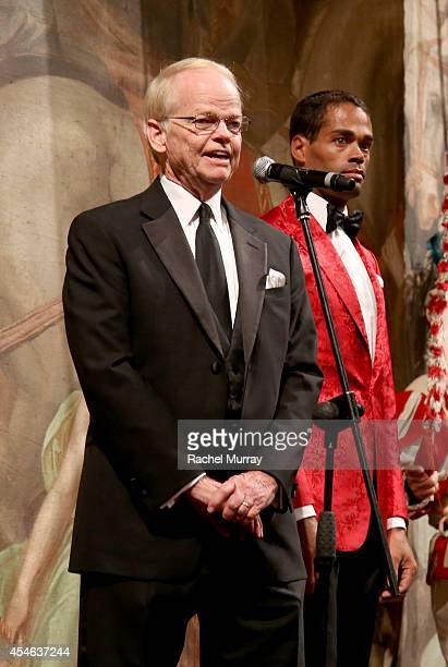 Chairman and Founder of Celebrity Fight Night Jimmy Walker speaks onstage during a formal dinner hosted by Stefano Ricci at The Teatro della Pergola...