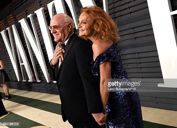 Chairman and Senior Executive of IAC/InterActiveCorp Band Expedia, In Barry Diller and Diane von Furstenberg attends the 2015 Vanity Fair Oscar Party...