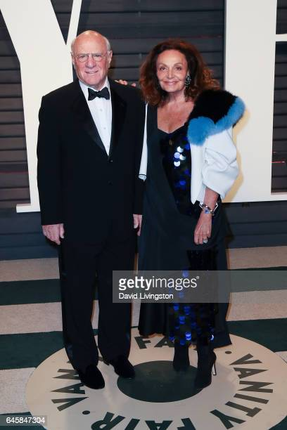 Chairman Barry Diller and designer Diane von Furstenberg attend the 2017 Vanity Fair Oscar Party hosted by Graydon Carter at the Wallis Annenberg...