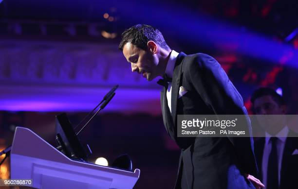PFA chairman Ben Purkiss during the 2018 PFA Awards at the Grosvenor House Hotel London PRESS ASSOCIATION Photo Picture date Sunday April 22 2018 See...