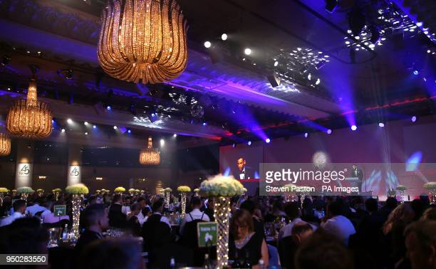 PFA chairman Ben Purkiss on stage during the 2018 PFA Awards at the Grosvenor House Hotel London PRESS ASSOCIATION Photo Picture date Sunday April 22...