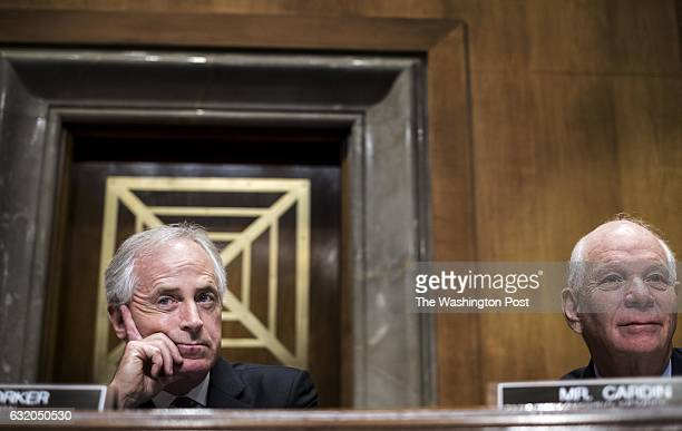 WASHINGTON DC Chairman Bob Corker and Ranking Member Ben Cardin listen to the nominee for Representative of the United States of America to the...