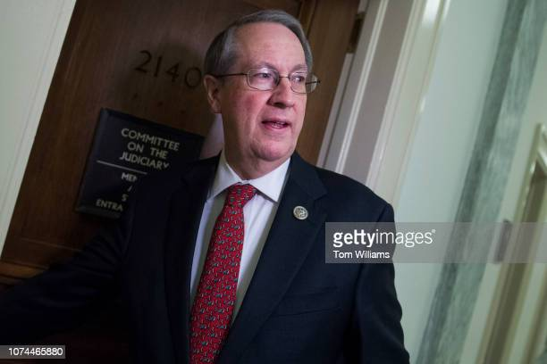 Chairman Bob Goodlatte RVa arrives for a House Judiciary Committee hearing in Rayburn Building titled Oversight of the Department of Homeland...