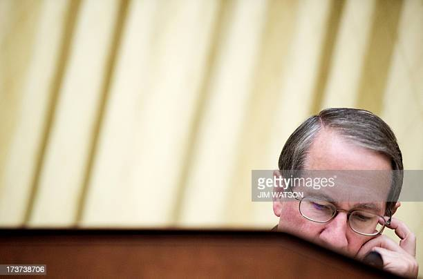 Chairman Bob Goodlatte RVirginia listens to testimony from witnesses on Capitol Hill in Washington DC July 17 during a full committee hearing and...
