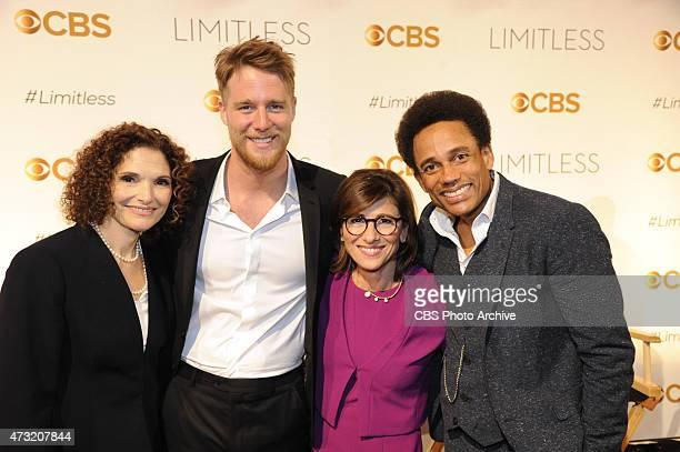 Chairman CBS Entertainment Nina Tassler with the cast from the new CBS drama LIMITLESSMary Elizabeth Mastrantonio[ Jake McDorman Chairman CBS...