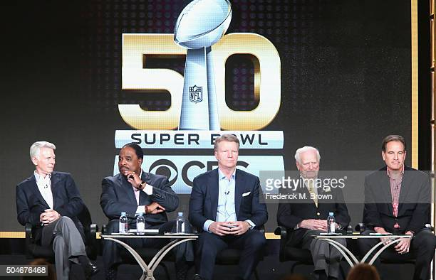 Chairman CBS Sports Sean McManus Host of THE SUPER BOWL TODAY James Brown Analyst Super Bowl 50 Phil Simms PlaybyPlay Announcer Super Bowl I Jack...