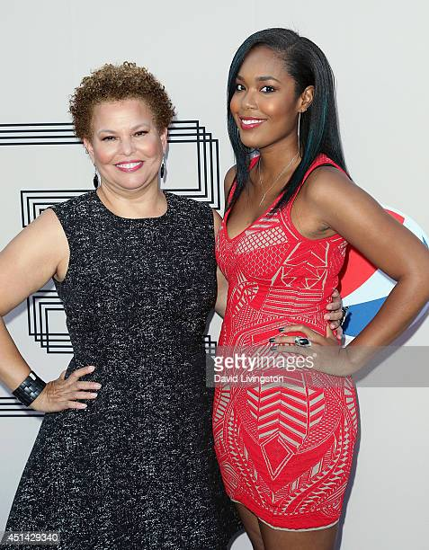 Chairman CEO Debra L Lee and daughter Ava Coleman attend the PRE BET Awards Dinner hosted by BET Networks' Chairman and CEO Debra L Lee at Milk...