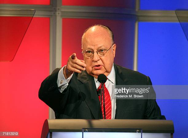 Chairman CEO FOX News Roger Ailes from 'Fox News' speaks onstage during the 2006 Summer Television Critics Association Press Tour for the FOX...