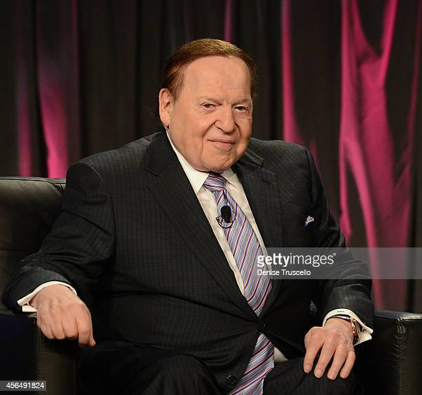 Chairman CEO Las Vegas Sands Corp Sheldon Adelson speaks at the Exclusive Seminar Keynote at the 14th Annual Global Gaming Expo at the Sands Expo and...