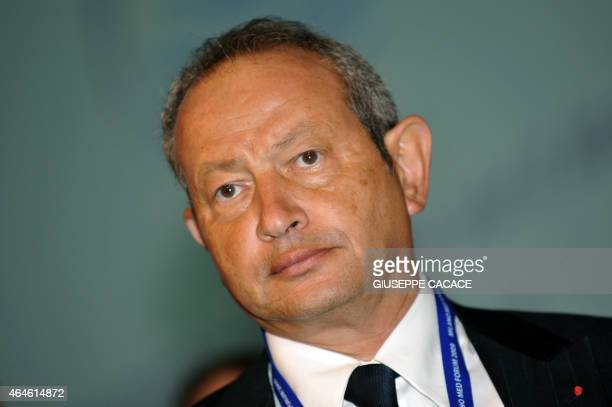 Chairman CEO of Orascom Telecom and Chairman of the Board of Wind Telecomunicazioni SpA Naguib Sawiris of Egypt attends the Economic and Financial...