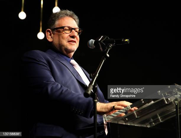 Chairman CEO of Universal Music Group Sir Lucian Grainge accepts the Executive of the Decade Award onstage at 2020 Billboard Power List for the 62nd...