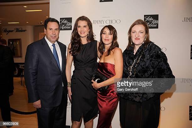Chairman CEO Saks Fifth Avenue Steve Sadove actress Brooke Shields founder president Jimmy Choo Tamara Mellon and editorinchief Harper's Bazaar...