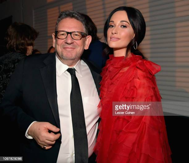 Chairman CEO Sir Lucian Grainge and Kacey Musgraves attend Universal Music Group's 2019 After Party Presented by Citi Celebrates Music's Biggest...