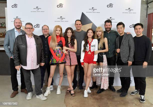 Chairman CEO Sir Lucian Grainge Interscope Records Chairman CEO John Janick and BlackPink attend Sir Lucian Grainge's 2019 Artist Showcase Presented...