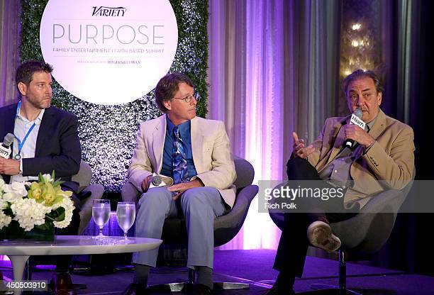 Chairman CEO Spark Networks Greg Liberman Partner Allied Faith and Family Tom Allen and CEO Arenas Santiago Pozo speak onstage during the 'Speaking...