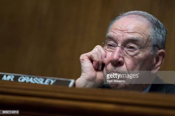 Chairman Charles Grassley RIowa conducts a Senate Judiciary hearing in Dirksen Building titled 'Cambridge Analytica and the Future of Data Privacy''...