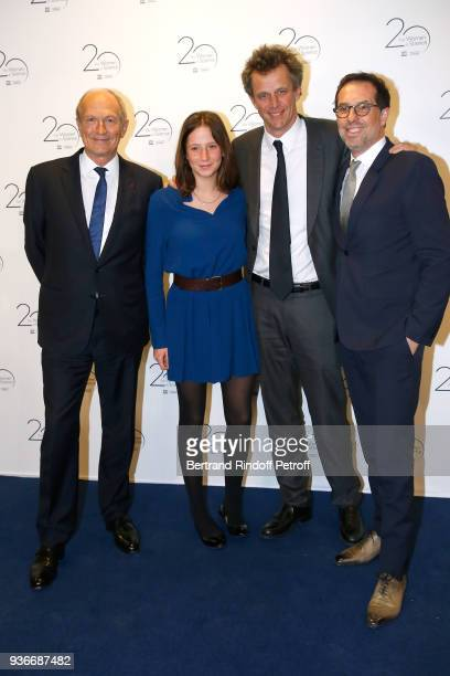 Chairman Chief Executive Officer of L'Oreal and Chairman of the L'Oreal Foundation JeanPaul Agon Arthur Sadoun his daughter Luna and General Director...