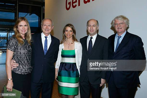 Chairman & Chief Executive Officer of L'Oreal, Chairman of the L'Oreal Foundation Jean-Paul Agon and his companion Sophie Agon, Miss Felicite Herzog,...