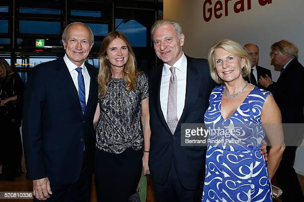 Chairman Chief Executive Officer of L'Oreal Chairman of the L'Oreal Foundation JeanPaul Agon his companion Sophie Agon Alain Flammarion and his wife...