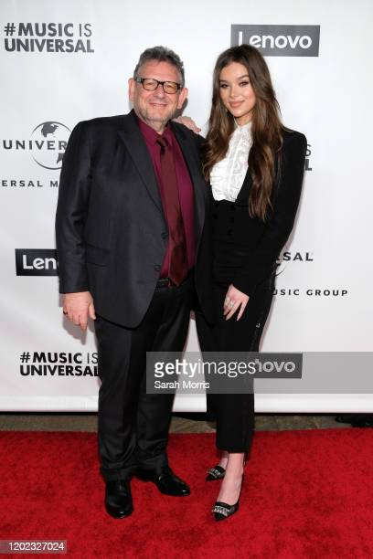 Chairman & Chief Executive Officer of Universal Music Group Sir Lucian Charles Grainge and Hailee Steinfeld attend the 2020 Grammy after party hosted...