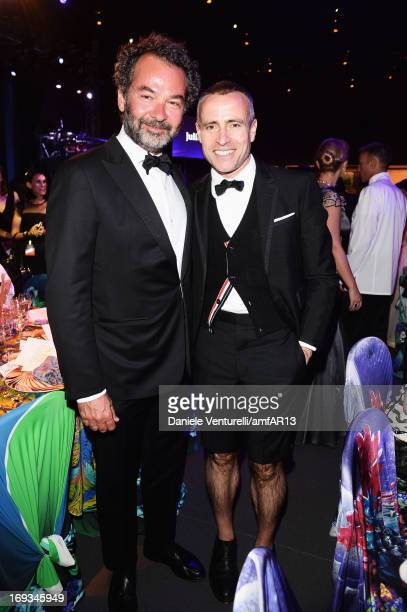 Chairman creative director of The Moncler Group Remo Ruffini and designer Thom Browne attend amfAR's 20th Annual Cinema Against AIDS during The 66th...