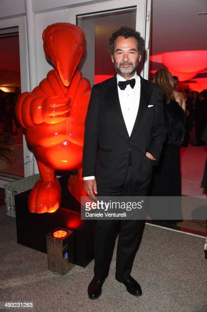 Chairman Creative Director of The Moncler Group Remo Ruffini attends the Moncler The After Party To Benefit amfAR at Hotel du CapEdenRoc on May 22...