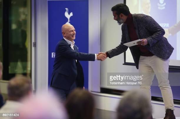 Chairman Daniel Levy attends the Tottenham Hotspur Fans Forum on December 11 2017 in Tottenham England