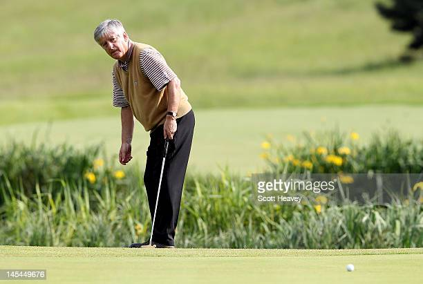 Chairman David Bernstein during a Vauxhall Golf Day for the England Football team at The Grove Hotel on May 30 2012 in Hertford England