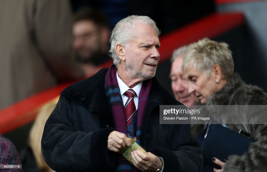 Chairman David Gold during the Premier League match at the Vitality Stadium, Bournemouth.