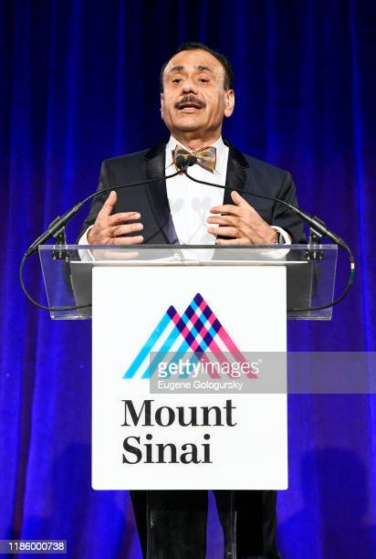 Chairman Dept of Urology Ashutosh K Tewari speaks onstage during 2019 Mount Sinai Prostate Cancer Research Gala at Cipriani 42nd Street on November...