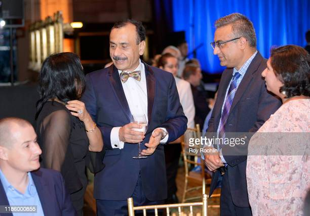 Chairman Dept of Urology Ashutosh K Tewari speaks with guest during 2019 Mount Sinai Prostate Cancer Research Gala at Cipriani 42nd Street on...