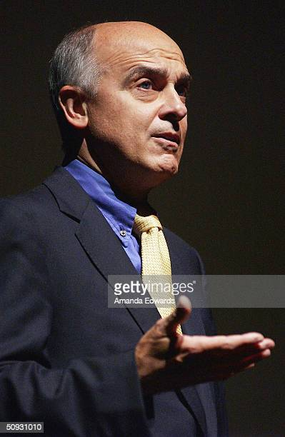 LACO Chairman Edward Nowak gives a speech at the 15th Anniversary of the Los Angeles Chamber Orchestra's Silent Film Festival on June 5 2004 at...