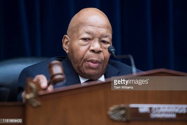 Chairman Elijah Cummings DMd conducts a House Oversight and Reform Committee hearing in Rayburn Building on security operations at the Transportation...