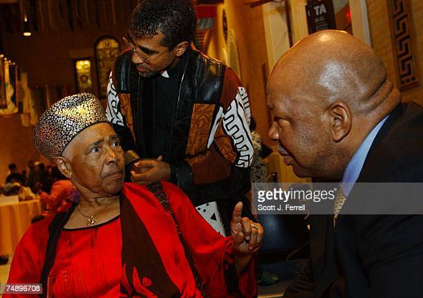 Chairman Elijah Cummings DMd right listens to 1964 Delegate Victoria Jackson Gray Adams tell her story during a 'Fannie Lou Hamer' reception at the...